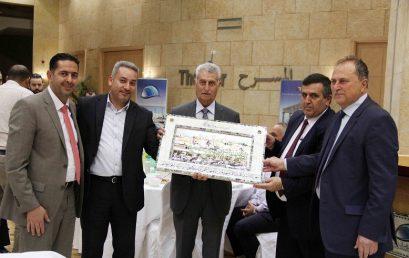 شركة جامعة فلسطين الأهلية تقيم مأدبة افطار لموظفيها
