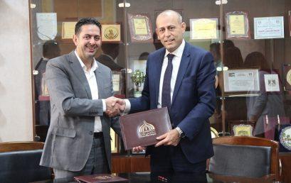 جامعة فلسطين الأهلية وشركة المشرق توقعان مذكرة تفاهم