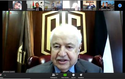 جامعة فلسطين الأهلية تستضيف الدكتور طلال أبو غزالة